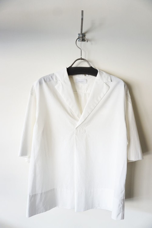 Cotton Open Collared Shirt [ White ]