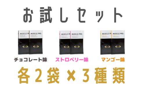 【お試し6個セット】RIZAP(ライザップ )プロテイン MUSCLE PRO.(マッスルプロ)新品未使用 2袋3種類セット