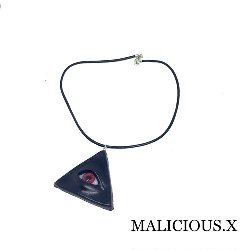 eye necklace / red(black)