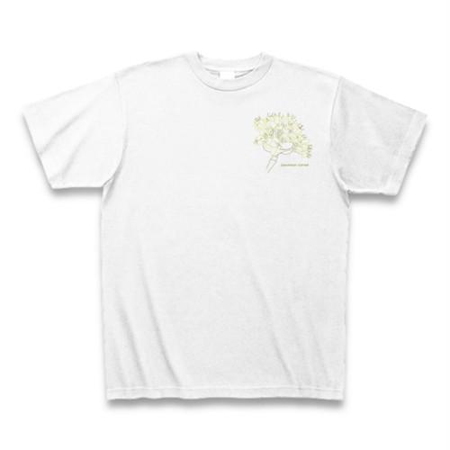 サンシュユ フラワーイラストTシャツ ワンポイント