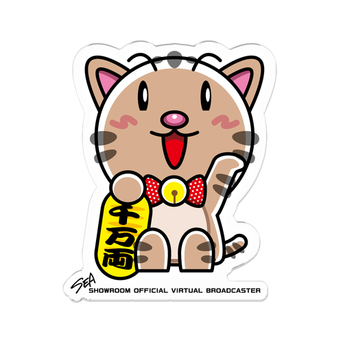 <アクリルバッチ 70×70>まねきみーちゃん