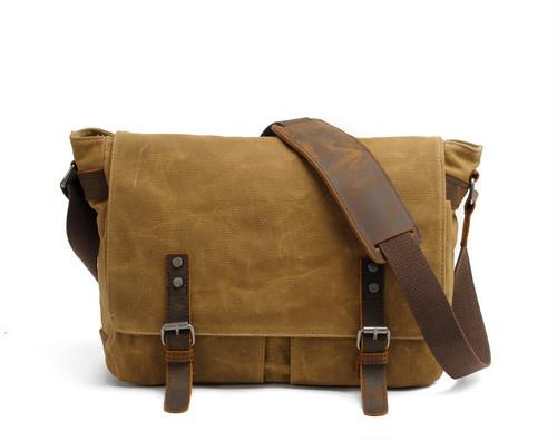 Waterproof Canvas Bag Vintage Bag Casual Shoulder Bag Canvas Bag カジュアル ショルダーバッグ ビンテージ 防水 (YYB99-5211204)