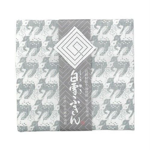 白雪友禅ふきん / 鹿 /シルバー