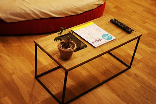 オーク × アイアン コーヒーテーブル