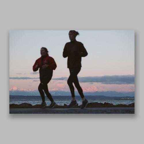 Postcard「Morning Run」13cm×18cm Original Print