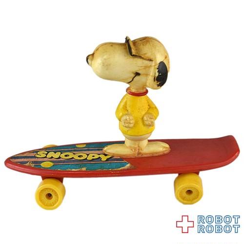 スヌーピー ジョークール  ミニ スケートボード 赤ボード