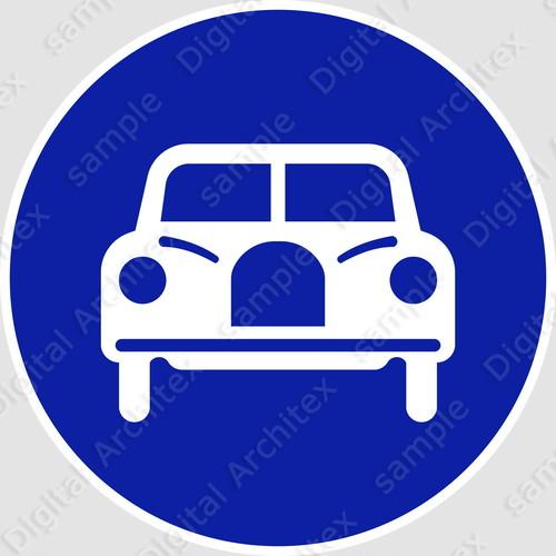 【イラスト】自動車専用の 交通標識