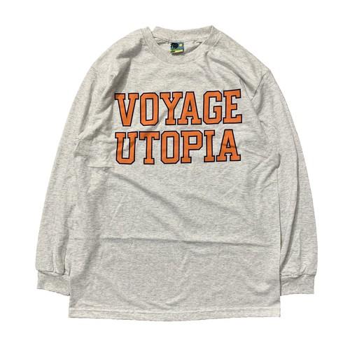 VOYAGE UTOPIA / COLLEGE L/S TEE -ASH-