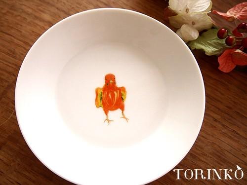 セキセイインコ オレンジ(ワキワキ) お皿 中サイズ