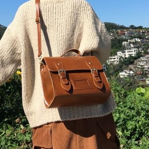 【バッグ】学園風ファッションレトロPUショルダーバッグ