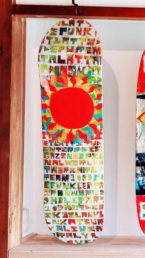 """PMA SKATEBOARD DECK """" THE SUN """""""