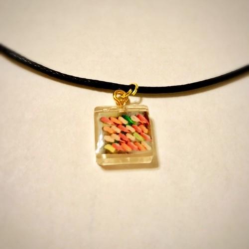 和風チョーカー ミニチュア寿司盛り合わせ Japanese unique choker necklace Miniature assorted sushi