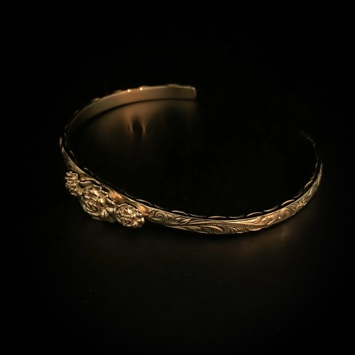 【販売初日限定価格】24kgp Hawaiian jewelry bangle(3rose)