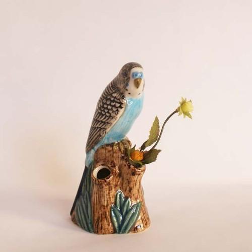 flower vase/ セキセイインコ