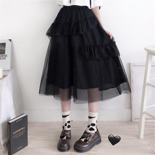 チュール 変型 スカート 2色