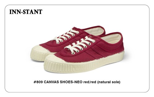 #809 CANVAS SHOES-NEO red/red(naturale sole) INN-STANT インスタント 【税込・送料無料】