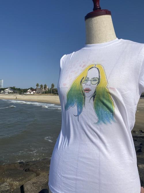 メガネgirl's Tシャツ design by イラストレーターRyoko