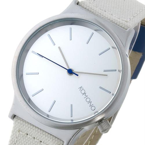 コモノ KOMONO Wizard Heritage-Clay Blue クオーツ レディース 腕時計 KOM-W1357 シルバー シルバー