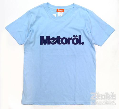 2takt T-shirt/Motoröl/Light Blue