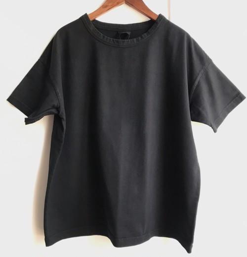 【HEAVENLY】オーガニックコットン サルファドダイ ワイドTシャツ ブラック フリーサイズ【ヘブンリー】