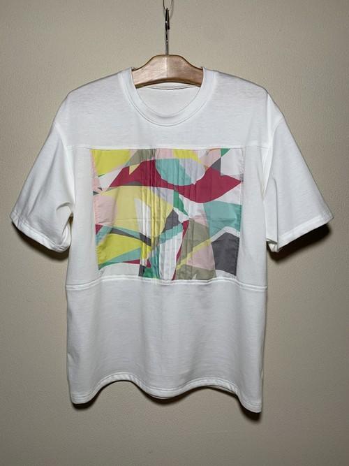 パステルプリント切り替え Tシャツ 22