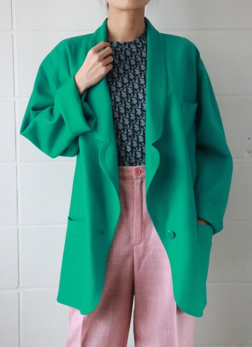 Louis Feraud green jacket