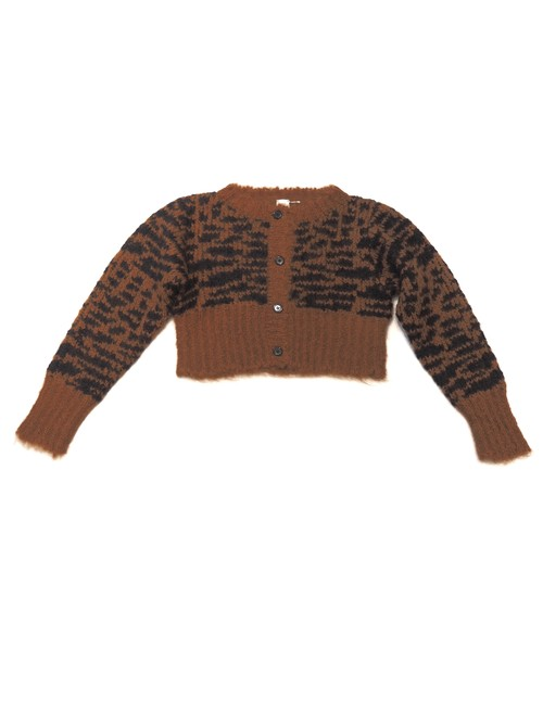 【ELIN】Animal JQ Cropped Cardigan