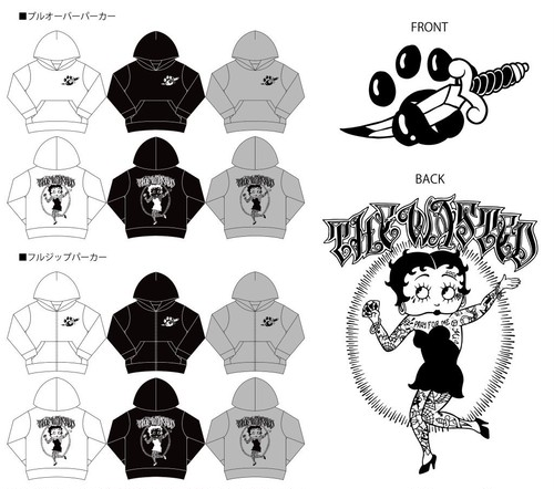 【THE WASTED】Tattoo Girl Hoody