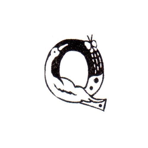 トリファベット Q Bird Alphabet Q