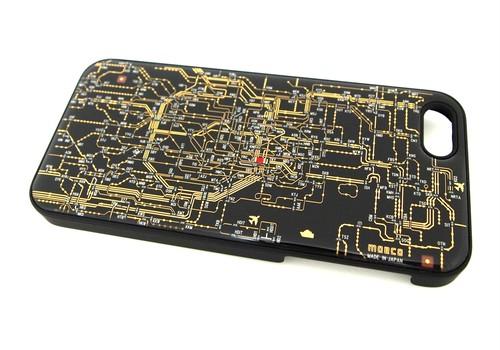 東京回路線図 iphone5/5s/5seケース 黒【LEDは光りません】【東京回路線図ピンズをプレゼント】