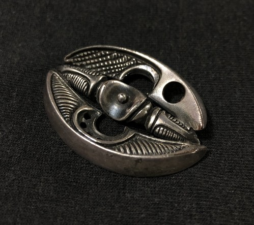 1950s VINTAGE ABSTRACT  SILVER PIN