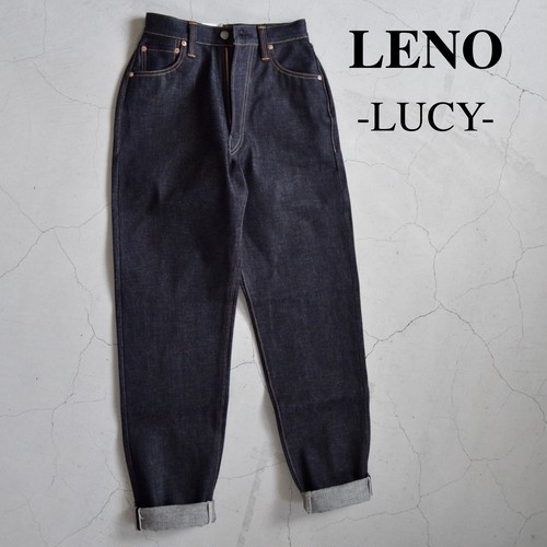 "LENO/リノ・""LUCY"" HIGH WAIST TAPERED JEANS -NON WASH-"