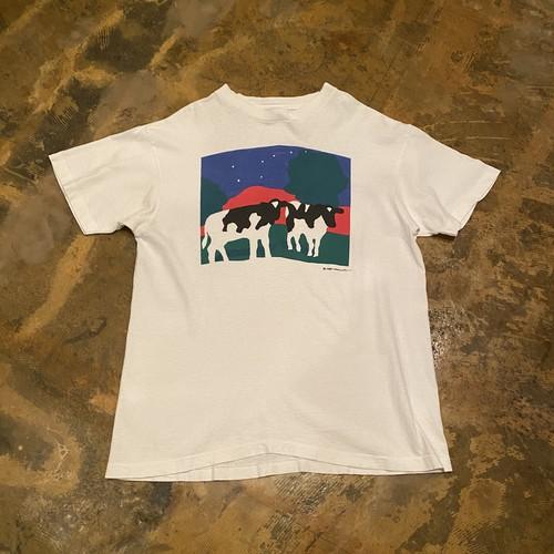 80s Print T-shirt / Cow