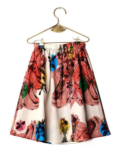 《WOLF & RITA 2018SS》LURDES skirt / hot vulcano(日本別注) / 2-8Y