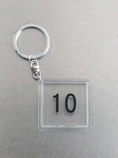 キーホルダー【10】透明角
