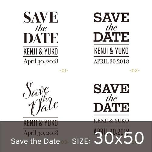 カスタムスタンプ30x50【Save the Date-長方形】