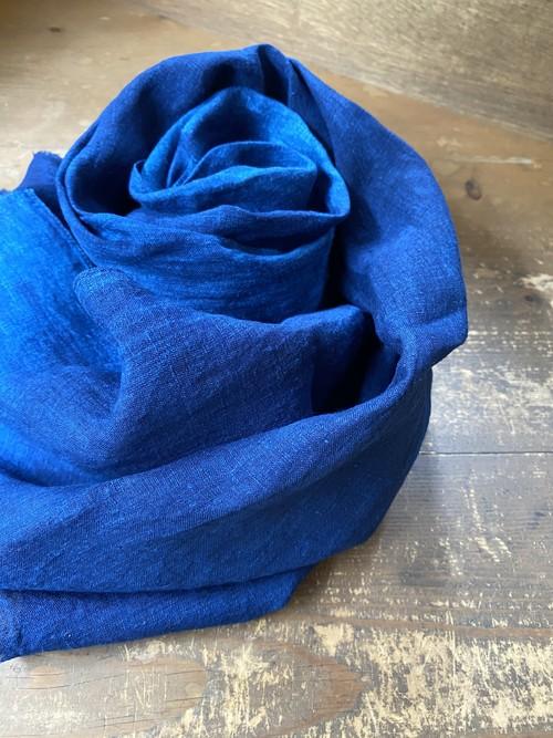 藍染リネンストール 細幅