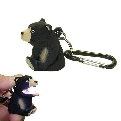 【クマ】口を開ければ光を放ち闇夜を照らすお役立ち【アニマルライト】