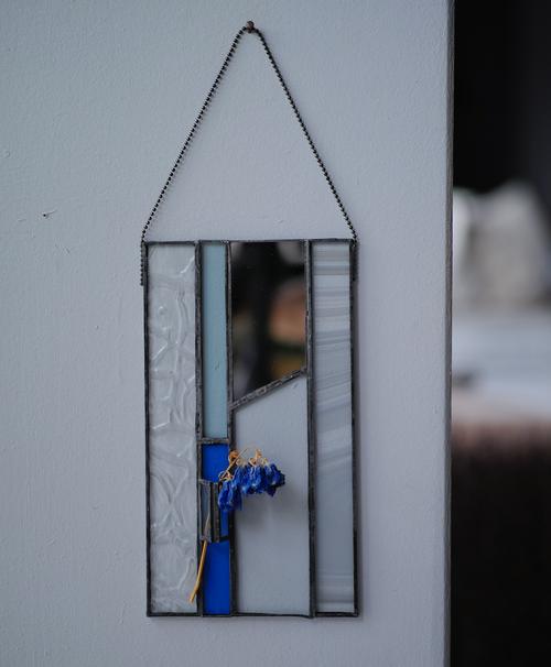 blue / デルフィニウム【patchwork mirror 花器融合型】