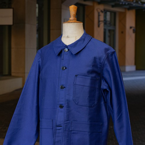 OLD ADOLPHE LAFONT BLUE MOLESKIN JACKET DEAD STOCK