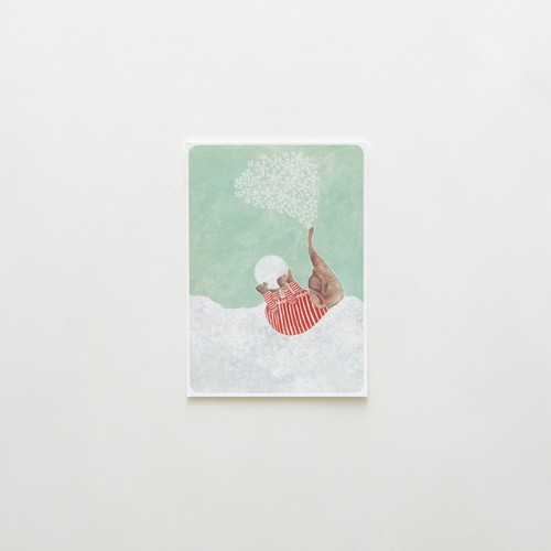 First snow postcard