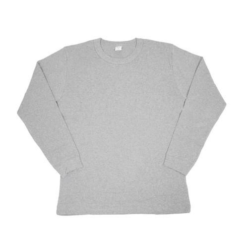 【gicipi】 イタリア製 コットン クルーネック 長袖 Tシャツ ( Giro Collo ML 2003 P) 〈Grey〉