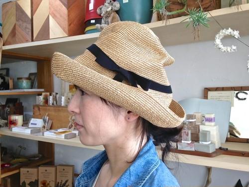 【S/Sは2020年1月から販売開始】mature ha. マチュアーハ BOXED HAT 101 11cm brim ミックスブラウン×ブラックリボン