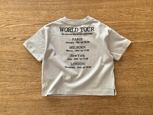 バックロゴTシャツ・グレー 80cm