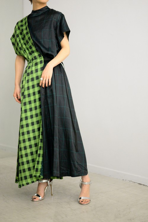 TOGA PULLA / Check print dress