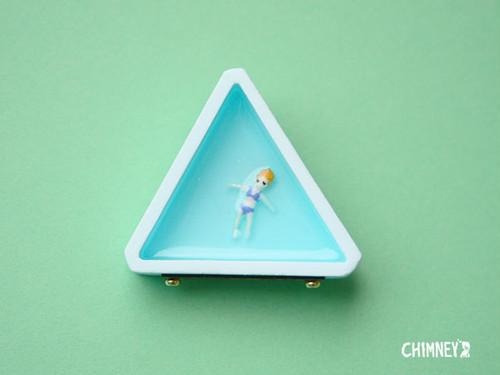 セレブさんブローチ[三角/blue]*new