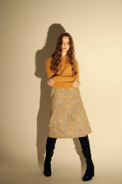 flowe tweed wrap skirt
