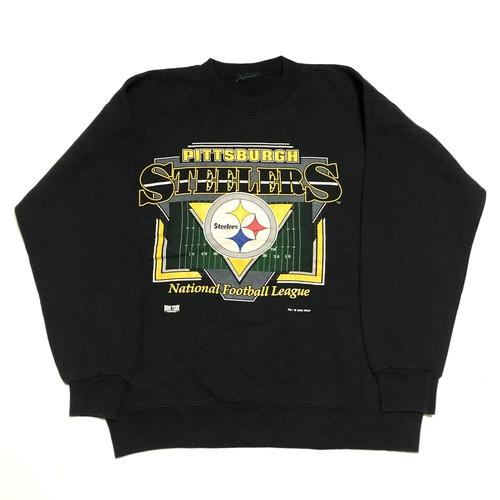 90's PITTSBURGH STEELERS SWEAT ピッツバーグスティーラーズ アメフト ビンテージ スウェット(黒)