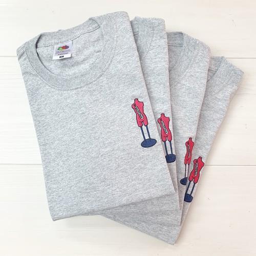 【>>>BACKSTAGE】 1st ANNIVERSARY Tシャツ:アスレチックヘザー(グレー)