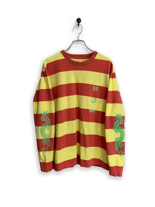 Original Long Sleeve border-T /red×yellow